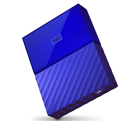 WD My Passport 2TB USB 3.0 Portable External Hard Drive (Blue)